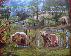 Kazakhstan  2018    Brown  Bear  S/S  MNH - Kazakhstan