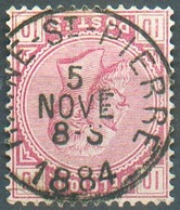 N°38 - 10 Centimes Rose, Obl. Sc HAINE-St-PIERRE 5 Nov. 1884 - 15149 - 1883 Léopold II