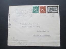Finnland 1941 Zensurpost Finnischer Tarkastettu Granskat Und OKW Verschlussstreifen Mehrfachzensur Michel Nr. 237 MiF - Cartas