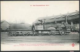 Les Locomotives (Midi) - Machine N° 107 Type 120 F - Fleury N° 15 - Voir 2 Scans - Treinen