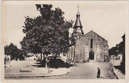 NERIS LES BAINS L' Eglise Et La Place De La Republique ( Automobiles Chien ...) - Neris Les Bains