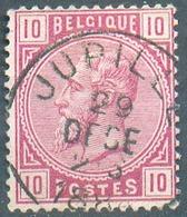 N°38 - 10 Centimes Rose, Obl. Sc JUPILLE 29 Déc.  1884 - 15151 - 1883 Léopold II