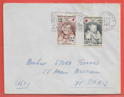 REUNION LETTRE DE 1966 DE SAINT DENIS CROIX ROUGE - Covers & Documents