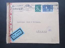 Finnland 1943 Zensurpost Finnischer Stempel Tarkastettu Granskat Und OKW Zensur Luftpost / Par Avion / Ilmaposti - Cartas