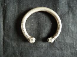 Bracelet D'Esclave Africain En Bronze Argenté 19ème Siècle - Réf, 6 - African Art