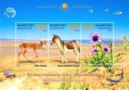 Kazakhstan  2019   Flora  And Fauna  Of Barsa - Kelmes Nature  Reserve   S/S    MNH - Kazakistan