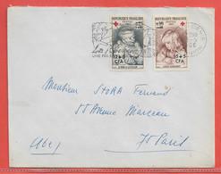 REUNION LETTRE DE 1966 DE SAINT DENIS CROIX ROUGE - Reunion Island (1852-1975)
