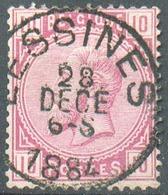 N°38 - 10 Centimes Rose, Obl. Sc LESSINES 28 Déc.  1884 - 15152 - 1883 Léopold II