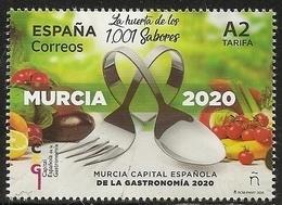 2020-ED. 5379 - Capital Española De La Gastronomía 2020. Murcia - NUEVO- - 1931-Hoy: 2ª República - ... Juan Carlos I
