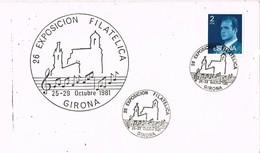 35704. Carta Exposicion GERONA 1981. Tema MUSICA, Musik - 1931-Hoy: 2ª República - ... Juan Carlos I