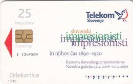 SLOVENIA - Ivan Grohar, Larch, Chip:GEM5 (Red), Tirage 20000, 07/08, Used - Slovénie