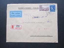 1943 Zensurpost Finnischer Stempel Tarkastettu Granskat Und OKW Zensur Luftpost / Par Avion / Ilmaposti Einschreiben! - Cartas
