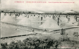 Carte Postale Ancienne Aude La Nouvelle Les Salins De Sainte Lucie Les Travailleurs Du Sel 1917 - Port La Nouvelle