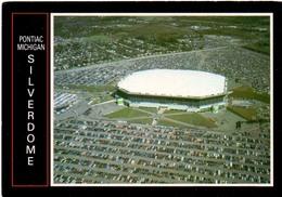 Postcard Stadium Pontiac Michigan USA Stadion Stadio - Estadio - Stade - Sports - Sport - Dome - Stadi