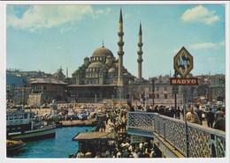 TURKEY  - AK 373127 Istanbul -  Galata Bridge And New Mosque - Turkey
