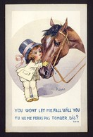 You Won't Let Me Fall Will You? Little Girl Horse - Artist Right - Humour