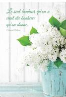 Fleurs - Le Seul Bonheur Qu'on A Vient Du Bonheur Qu'on Donne - ( Edouard Pailleron ) Cpm - écrite - - Flores