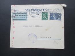 1943 Zensurpost Finnischer Stempel Tarkastettu Granskat Und OKW Zensur Luftpost / Par Avion / Ilmaposti Turko - Lübeck - Cartas