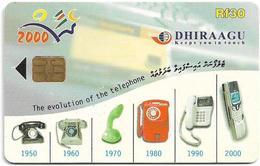 Maldives - Dhiraagu (chip) - Telephone Devices - 323MLDGIF - Chip Siemens S35, 30MRf, Used - Maldiven