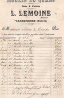 Vieux Papiers > Factures  France > Non Classés Vandenesse Moulin Du Quart Sons & Farines L.LEMOINE Meunier - France