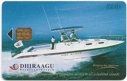 Maldives - Dhiraagu (chip) - Speed Boat - 2MLDGIE - Chip Siemens S37, 30MRf, Used - Maldiven