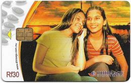 Maldives - Dhiraagu (chip) - Two Girls - 2MLDGIM - Chip Siemens S37, 30MRf, Used - Maldivas
