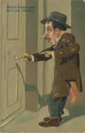COMIC - WHERE'SH KEYHOLE GONE - EMBOSSED 1917 - Bandes Dessinées