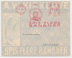 Illustrated Meter Cover Denmark 1928 Fruit - Bananas - Eat More Bananas - Frutta
