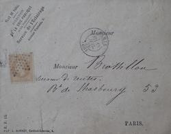 R1712/121 - NAPOLEON III N°21 Sur ✉️ (LSC) De LA VILLE De PARIS - ETOILE MUETTE - PARIS à PARIS Boulevard De Strasbourg - 1862 Napoléon III