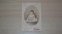 ANTICA FOTO CARTONATA FOTOGRAFO E. NIGGL GORIZIA MISURA CM. 10,5  X 7 - Antiche (ante 1900)