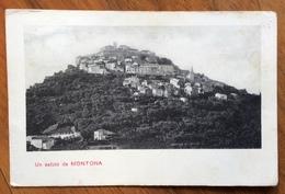 ISTRIA - UN SALUTO DA MONTONA - CARTOLINA CON ANNULLO  A BARRE MONTONA 7/9/10  PER CAPODISTRIA - Trieste