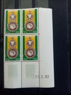 ALGERIE.1952.N°296cd52. Medaille Militaire.NEUFS SANS Charnières.Côte YT 2013 : 13 € + Valorisation Du Bloc Coin Daté. - Neufs