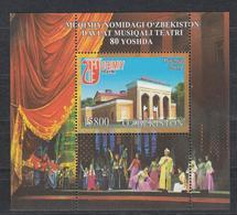 Uz 1405 Bl. 104 Uzbekistan Usbekistan 2019 80 Year Aniv Of Theater - Uzbekistan