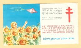 """""""44° CAMPAGNA NAZIONALE TUBERCOLOSI"""" VIVERE GIOVANE VIVERE SANO, LIBRETTO COMPLETO,NUOVO, I.P.Z.S. - - Malattie"""