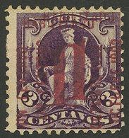 CUBA: Sc.232c, 1902 Provisional 1c. With DOUBLE Overprint, VF Quality! - Kuba