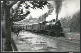 """Photo - Ferrocarril De La Robia - Espagne - Locomotive 130 T N° 20 """" Juan C. Calvo """" - Voir 2 Scans - Treinen"""