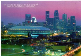 Postcard Stadium Minneapolis Minnesota USA Stadion Stadio - Estadio - Stade - Sports - Football - Dome - Stadi