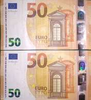 50 EURO HOLANDA(PB)P008A1 First Position High Nummer Y (PC)P009A Low Nummer, DRAGHI - EURO