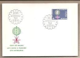 Svizzera - Busta FDC Con Annullo Speciale: Lotta Contro La Malaria - 1962 - Malattie