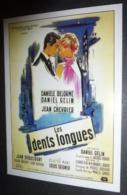 Carte Postale : Les Dents Longues (film Cinéma Affiche) Illustration : Guy-Gérard Noël (Danièle Delorme - Daniel Gelin) - Posters On Cards