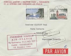 Première Liaison AIR FRANCE Boeing 707 PARIS - TANANARIVE 12/10/1961 - Avions