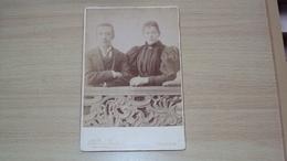 ANTICA FOTO CARTONATA GRANDE FOTOGRAFO DAL MISTRO VENEZIA MISURA CM. 16,5  X 11 - Ancianas (antes De 1900)