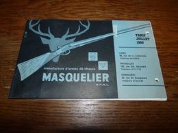 Ancien Tarif Armes De Chasse Masquelier 1969 Chasse Fusil FN Hestal - Sport