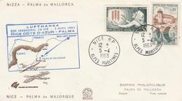 Premier Vol LUFTHANSA NICE COTE D' AZUR - PALMA 5/4/1963 - Avions