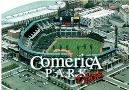 Postcard Stadium Detroit Michigan USA Stadion Stadio - Estadio - Stade - Sports - Baseball - Comerica Park - Stadi