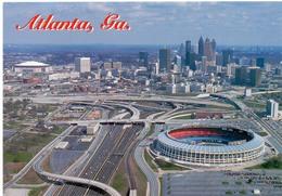 Postcard Stadium Atlanta Georgia Usa Fulton County And Dome Stadion Stadio - Estadio - Stade - Sports - Sport - Stadi