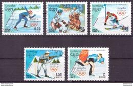 Kampuchea 1988 Oblitéré - Jeux Olympiques - Michel Nr. 911-913 915-916 (cam331) - Kampuchea