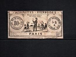 Timbres Fiscaux Fiscal Revenue étiquette Allumettes Période 1874-1878 - Fiscales