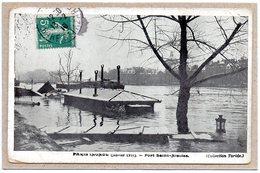 (75) - PARIS INONDE (JANVIER 1910) - PORT SAINT NICOLAS - 1910 - Paris Flood, 1910