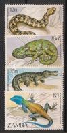 Zambia - 1984 - N°Yv. 306 à 309 - Faune / Reptiles - Neuf Luxe ** / MNH / Postfrisch - Zambie (1965-...)